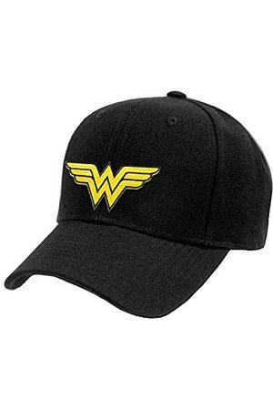 Wonder Woman Cappello (Unisex-One Size) Logo Baseball Cap (Black)