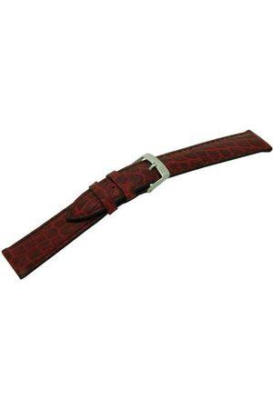 Morellato Bransoletka skórzana do zegarka unisex LIVERPOOL bordowa 18 mm A01U0751376081CR18