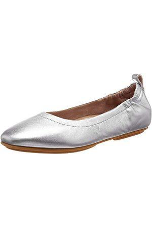 FitFlop Allegro baleriny damskie zamknięte, - Silver - 41 EU