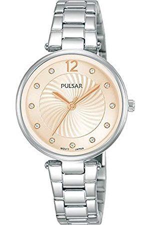 Pulsar Damski analogowy zegarek kwarcowy z metalową bransoletką kwarcowy. srebrno