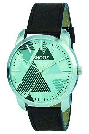 Snooz Męski analogowy zegarek kwarcowy ze skórzanym paskiem Saa0044-67