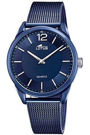 Lotus 18735/2 zegarek na rękę minimalistyczny, obudowa 40 mm, niebieska bransoletka wojskowa dla mężczyzn