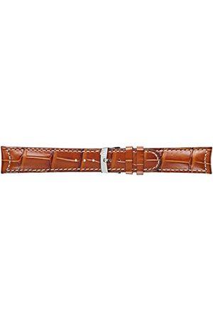 Morellato Bransoletka do zegarka męskiego, kolekcja MANUFATTI, mod. GUTTUSO, ze skóry cielęcej ze strukturą aligatora - A01U3882A59 Pasek 22mm