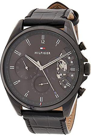 Tommy Hilfiger Męski analogowy zegarek kwarcowy ze skórzanym paskiem 1710452