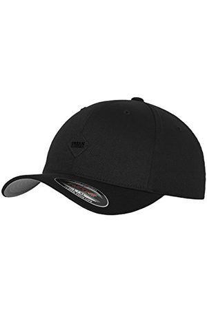 Urban classics TB1029 Unisex Baseball Leatherpatch Flexfit Cap (Blk/Blk 17), One size (rozmiar producenta: S/M)