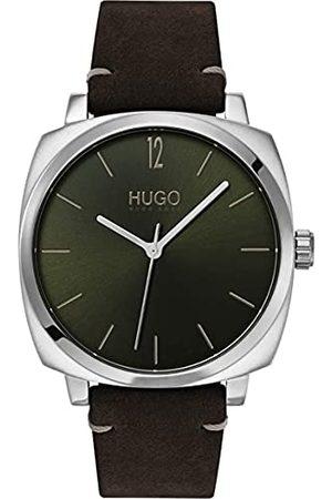 HUGO BOSS Mens analogowy zegarek kwarcowy ze skórzanym paskiem 1530068