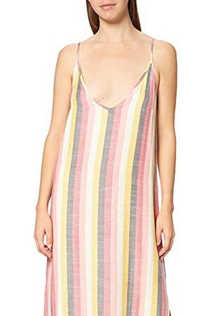 Hurley Damska sukienka w stylu casualowym z paskiem wiązanym Wiele pasków S