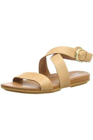 FitFlop Damskie sandały Graccie Ankle Strap Leather przesuwne, różowy - Veg Tan - 36 EU