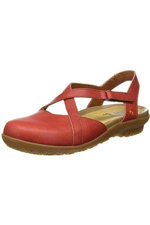Art Damskie sandały Antibes płaskie, czerwony - koralowa czerwień - 37 eu