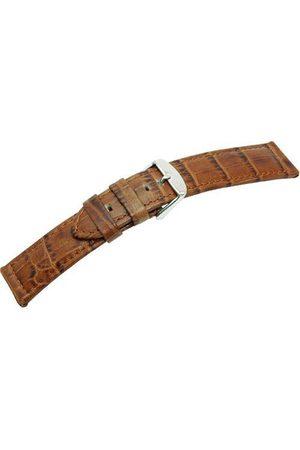Morellato Męski pasek do zegarka, kolekcja MANUFATTI, mod. Botero, wykonany z prawdziwej skóry cielęcej - nadruk krokodylkowy - A01U226480 pasek 24mm jasnobrązowy