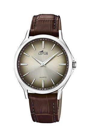 Lotus Męski analogowy klasyczny zegarek kwarcowy ze skórzanym paskiem 18516/3