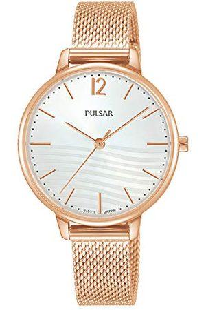 Pulsar Damski analogowy zegarek kwarcowy z bransoletką ze stali szlachetnej kwarcowy. Rosa