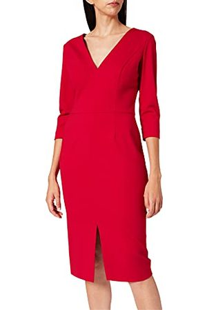 HUGO BOSS Damska sukienka Kalayla formalna, Dark Red601, 36 PL