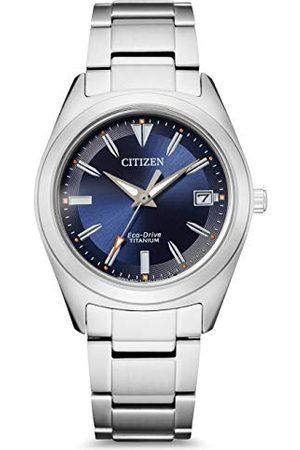 Citizen Damski analogowy zegarek Eco-Drive z bransoletką Super Titanium FE6150-85H