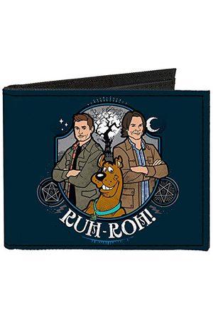 Buckle Klamra w dół - podwójnie składany portfel - zapinany płócienny podwójny portfel - Scooby Doo Supernatural męski
