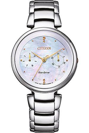 Citizen Womens Multi tarcza Eco-Drive zegarek z bransoletką ze stali szlachetnej FD1106-81D