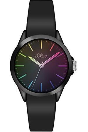 s.Oliver Unisex analogowy zegarek kwarcowy z bransoletką silikonową SO-3197-PQ