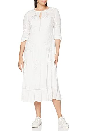 French Connection Damska sukienka z haftowaną koronką Dija, Letnie białe, 42 PL