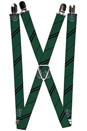 Buckle-Down Klamra w dół uniseks szelki - herb Slytherin / pasek zielony/czarny