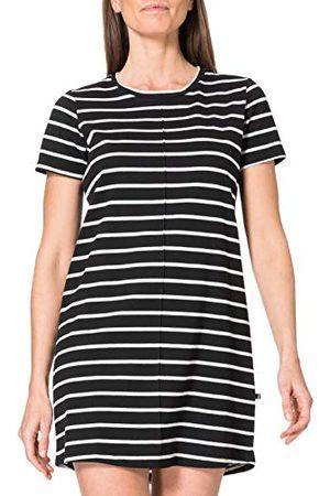 LTB Damska sukienka Toseri w luźnym stylu, Black White Stripes 886, L