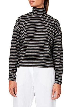 LTB Damska koszulka Gilowa, Black Grey Mel Lurex Stripes 12539, M