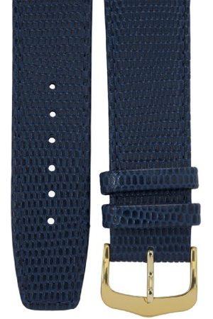 CERBERUS Pasek do zegarka 18 mm skóra , wygląd jaszczurki, długość 75x115 mm, aluminium IP złota sprzączka