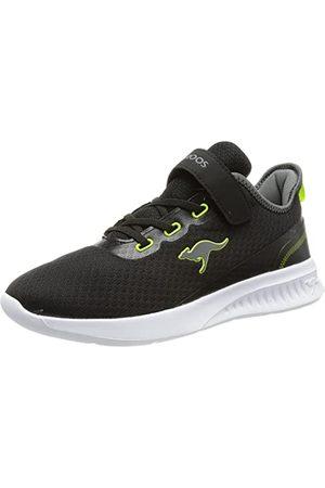 KangaROOS Unisex Kl-Stick Ev Sneaker, - Jet Black Lime - 38 EU