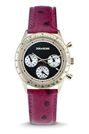 Zadig & Voltaire Unisex analogowy zegarek ze skórzanym paskiem ZVM105