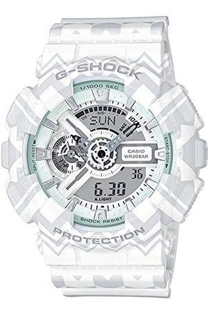 Casio Męski analogowy cyfrowy zegarek kwarcowy Smart Watch z plastikową bransoletką GA-110TP-7AER