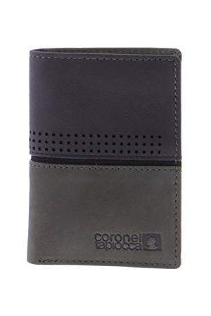 Coronel Tapiocca Portfel Tapioca Aldo Kaki i czarny dla mężczyzn/młodzieży z kieszonkami na banknoty, przegródka środkowa z zamkiem błyskawicznym, kieszenie na karty i przegródki wewnętrzne.