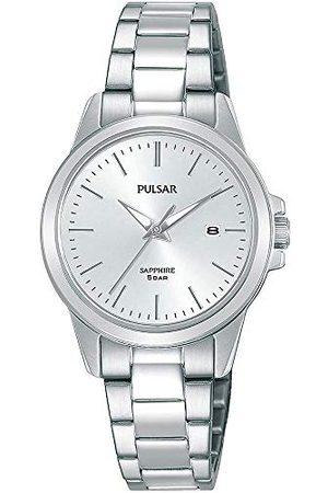 Pulsar Kwarcowy zegarek damski ze stali nierdzewnej z metalowym paskiem kwarcowy. srebro