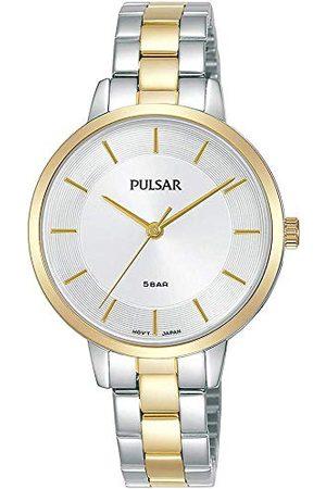 Pulsar Kwarcowy zegarek damski stal szlachetna z nakładką złota - dwukolorowy z metalowym paskiem PH8476X1