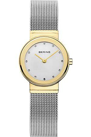 Bering Damski analogowy kwarcowy klasyczny zegarek z paskiem ze stali nierdzewnej i szafirem kryształu 10126-001