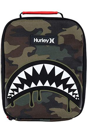 Hurley Unisex Adult Shark Bite Insulated Lunch Tote Bag, Green Camo, 1SIZE