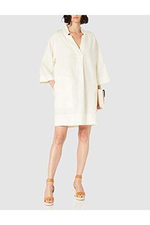 Noa Noa Damska sukienka Essential Linen Casual, Tofu, 34 PL