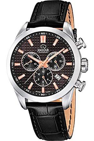 Jaguar J866/4 męski zegarek na rękę z kolekcji Acamar, obudowa 43 mm, czarna skórzana bransoletka