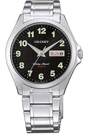 Orient Unisex analogowy zegarek kwarcowy z bransoletką ze stali szlachetnej FUG0Q008B6