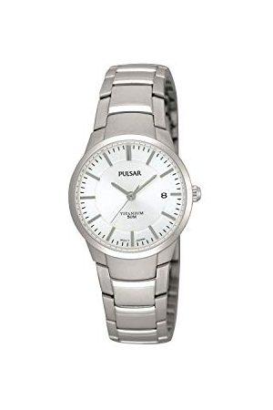 Pulsar Kwarcowy zegarek damski Titan z metalowym paskiem PH7129X1