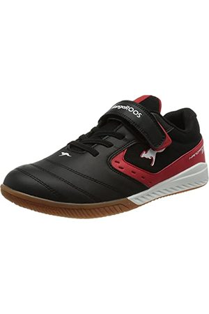 KangaROOS Unisex K5-Court Ev Sneaker, - Jet Black Fiery Red - 37 eu