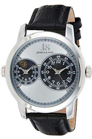 Joshua & Sons Męski analogowy kwarcowy zegarek na rękę ze skórzanym paskiem Taśma /
