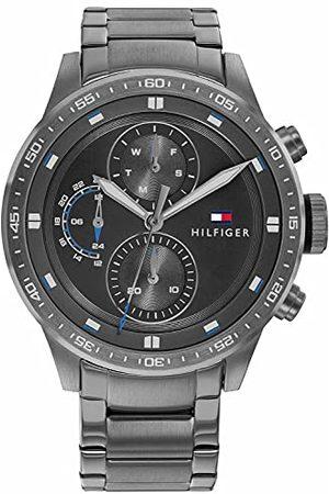 Tommy Hilfiger Mens Multi tarcza kwarcowy zegarek z bransoletką ze stali szlachetnej 1791806