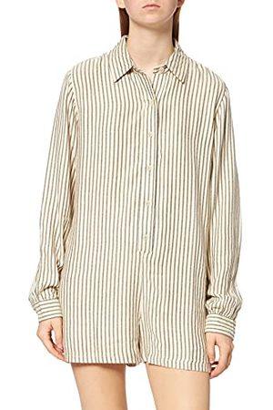 Hurley Damska koszula w kształcie litery W z przodu śpioszki casualowa sukienka Nasiona perła mini pasek S