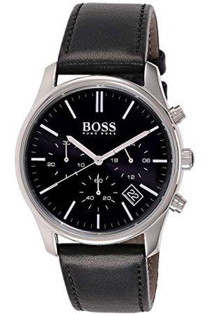 HUGO BOSS Męski multicyferblat kwarcowy zegarek na rękę ze skórzanym paskiem 1513430