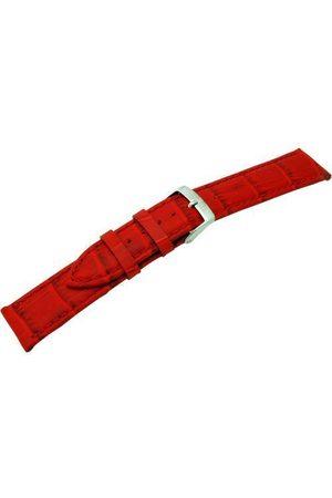 Morellato Bransoletka skórzana do zegarka uniseks Bolle czerwona 20 mm A01X2269480083CR20