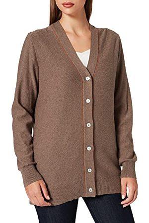 Noa Noa Damski Women, Essential Cotton Cashmere Long Sleeve Cardigan Sweater, melanż, XL