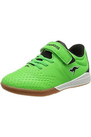 KangaROOS Unisex K5-Comb Ev Sneaker, - Neon Green Jet Black - 38 EU