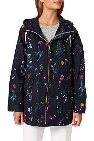 Joules Damski płaszcz przeciwdeszczowy Shoreside z nadrukiem, Marine Navy Floral, 34 PL