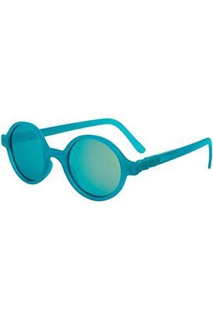 Ki ET LA Unisex dziecięce okulary przeciwsłoneczne Gafa de Sol años redondas CraZig-Zag Sun 4-6 lat PEACK okrągłe, Verde Pavo Real, jeden rozmiar (4-6 lat)