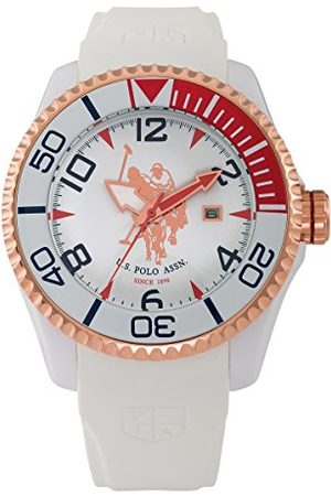 Ralph Lauren U.S. Polo Assn męski analogowy zegarek Miyota z silikonowym paskiem USP4274RG_różowe złoto