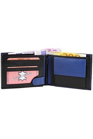 Monopol Męski portfel z prawdziwej skóry, 12 x 9 cm